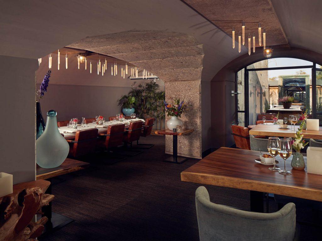 De Poterne kamer in het Poterne restaurant van Fort Resort Beemster is ideaal voor private dining en vergaderingen.